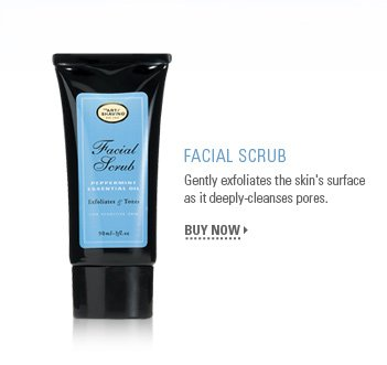 Facial Scrub - Gently exfoliates the skin's surface as it deeply cleanses pores.