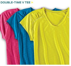 Double-Time V Tee ›