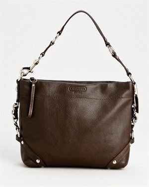 Coach Genuine Leather Chain Detail Handbag