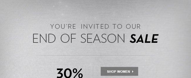 End of Season Sale - 30% OFF Starts Now - Shop Women