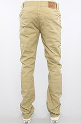 The Core Collection Slim Straight 5-Pocket Twill Pants in British Khaki