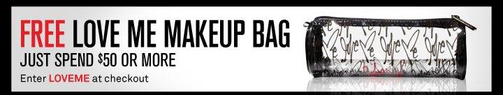Free Love Me Makeup Bag