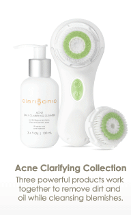 Acne Clarifying Collection Three powerful products work together to remove dirt and oil while treating blemishes.