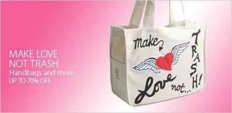 Make Love Not Trash Handbags and more