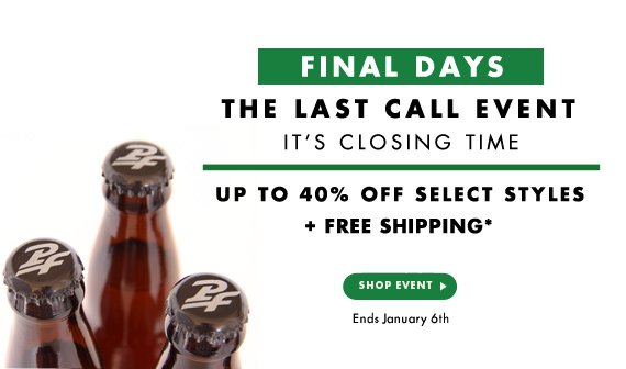 FINAL DAYS - Up to 40% Off + Free Shipping