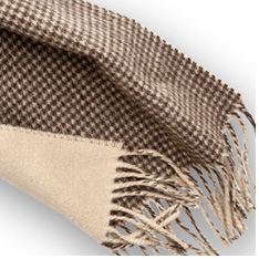 Amner Dogstooth Scarf - Was £150 - Now £105