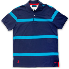 Port Stripe Polo Shirt - Was £59 - Now £39