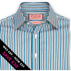 Gloucester Stripe Shirt - Slim Fit - Was £89 - Now £59