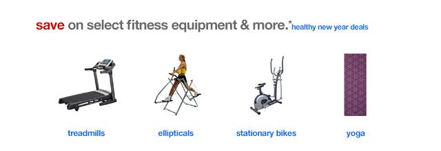 Save on Select Fitness Equipment & More.*
