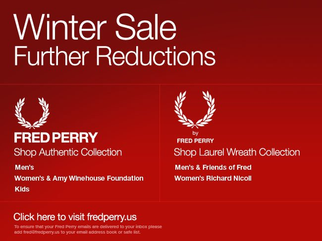 Further reductions in our Winter Sale - shop online now