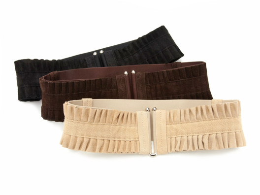 Never waste a waist! It's the one part of your body you always want to accentuate, and this stretchy suede-like belt does just that!