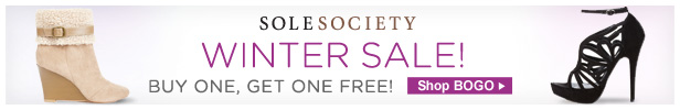 Shop Sole Society's Buy One, Get One Free Winter Sale Now!