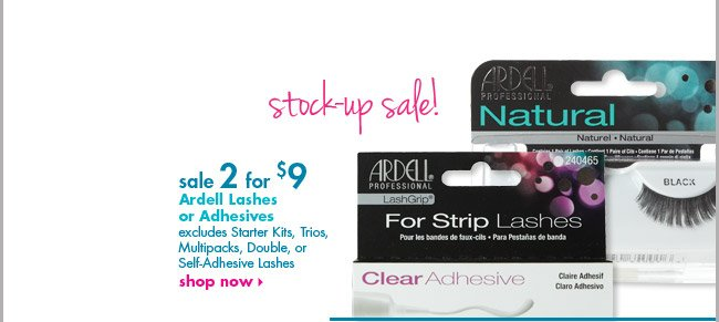 Ardell Lashes or Adhesives