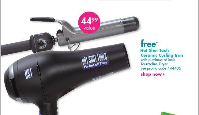 free* Hot Shot Tools Ceramic Curling Iron