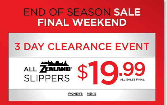 Final weekend for huge savings! ALL Zealand Slippers now $19.99, find great styles for women and men. Plus, shop a huge selection of regular priced and sale boots from your favorite brands including UGG Australia, Dansko, Raffini, ECCO and more and enjoy FREE 2nd Day Shipping (excludes clearance and kids styles).* Shop now at The Walking Company.