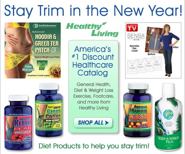 Stay trim in the New Year! Shop all Diet & Exercise Products from Healthy Living - America's Number One Healthcare Catalog