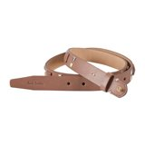 Paul Smith Belts - Taupe Leather Studded Belt