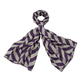 Paul Smith Scarves - Purple Herringbone Show Scarf