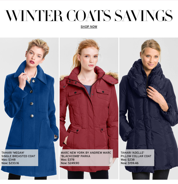 WINTER COATS SAVINGS