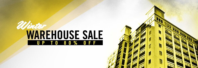 Winter Warehouse Sale: 70-80% Off
