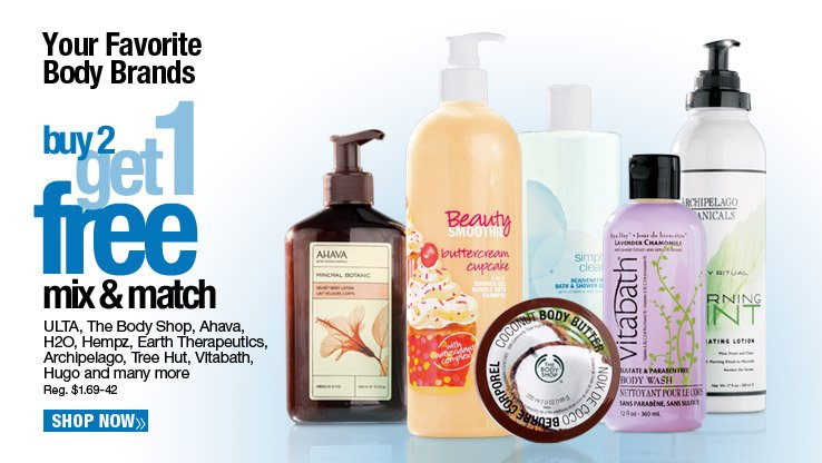 Buy 2 Get 1 FREE Mix and Match