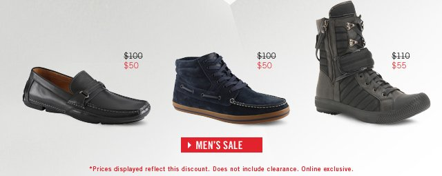 50% OFF THE ORIGINAL PRICE ON ALL SALE FOOTWEAR
