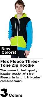 Flex Fleece Three-Tone Zip Hoodie