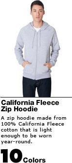 California Fleece Zip Hoodie