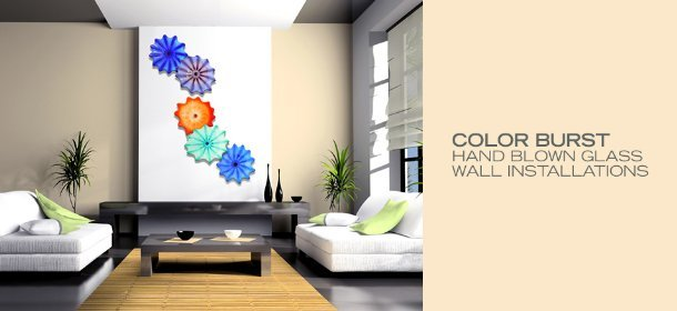 COLOR BURST: HAND BLOWN GLASS WALL INSTALLATIONS, Event Ends January 9, 9:00 AM PT >