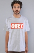 <b>Obey</b><br />The Obey Bar Logo Standard Issue Tee in Heather Grey