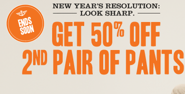ENDS SOON - NEW YEARS RESOLUTION: LOOK SHARP. GET 50% OFF 2ND PAIR OF PAINTS