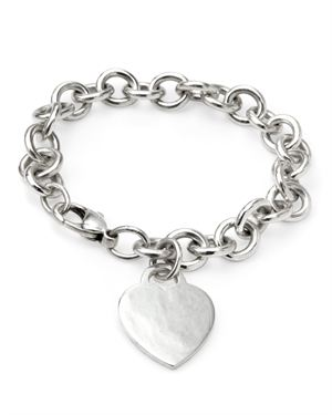 Tiffany & Co. Sterling Silver Heart Tag Bracelet, 8/10 Condition