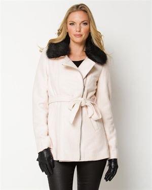 YA Los Angeles Faux Fur Collar Coat