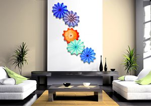 Color Burst: Hand Blown Glass Wall Installations