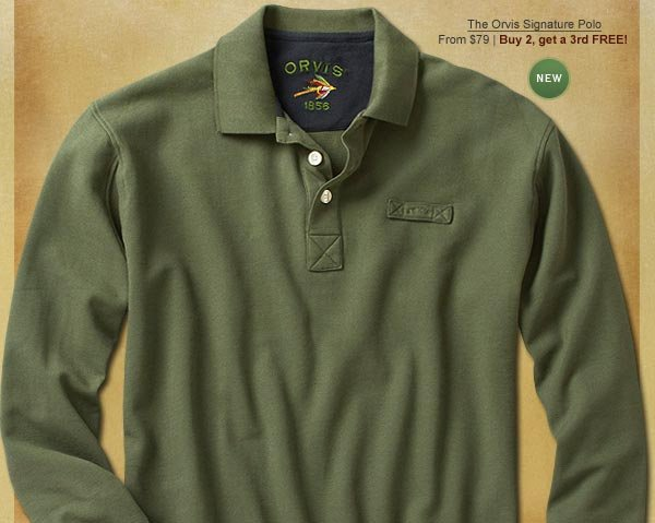 NEW The Orvis Signature Polo From $79 | Buy 2, get a 3rd FREE!