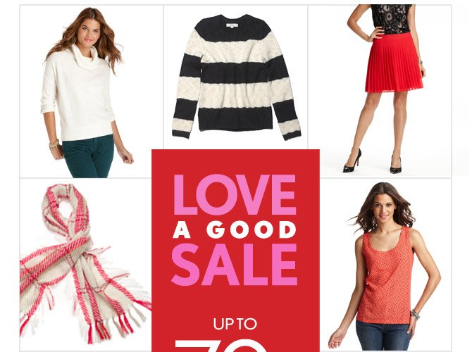 LOVE A GOOD SALE  UP TO 70% OFF  ORIGINAL PRICES*  IN STORES & ONLINE  SHOP SALE