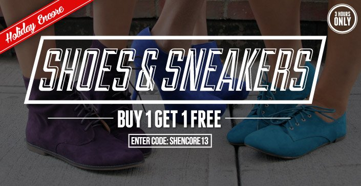 Shoes - Buy 1, Get 1 Free
