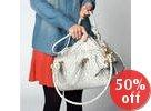 Ivanka Trump - Diamond Satchel with Removable Clutch (Ostrich)