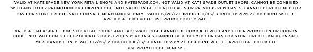 use promo code: MINUS25.