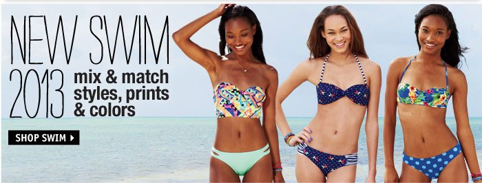 NEW SWIM 2013 mix & match  styles, prints & colors