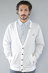The Core Collection Striped Cardigan in White