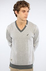 The Core Collection V-Neck Sweater in Ash Heather