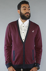 The Core Collection Striped Cardigan in Navy