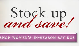 Shop women's in-season savings