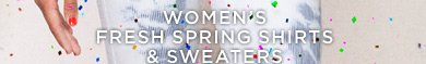 Women's Fresh Spring Shirts & Sweaters