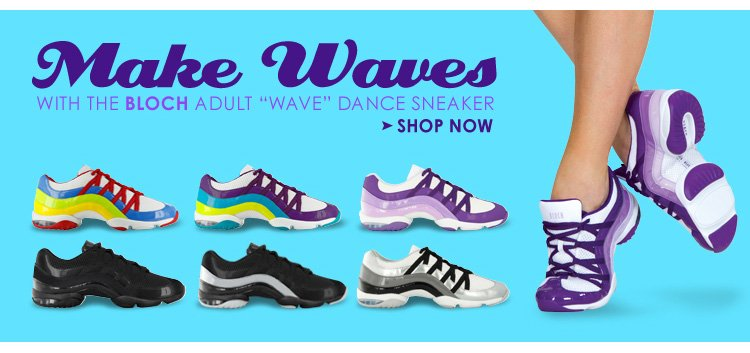 Make Waves with the Bloch adult 'Wave' Dance Sneaker