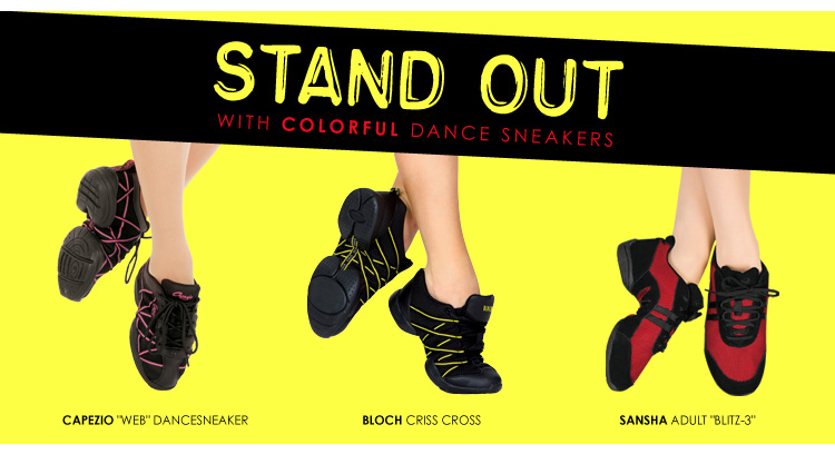 Stand out with colorful dance sneakers
