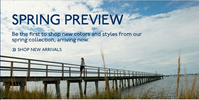 Spring Preview Shop New Arrivals