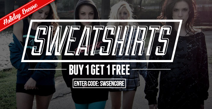 Sweatshirts: Buy 1, Get 1 Free
