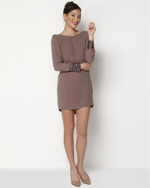 Romeo & Juliet Couture Long Sleeve Stud Dress